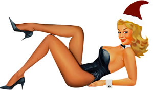 Pin-Up Girl wie bei der Leisure Suit Larry
